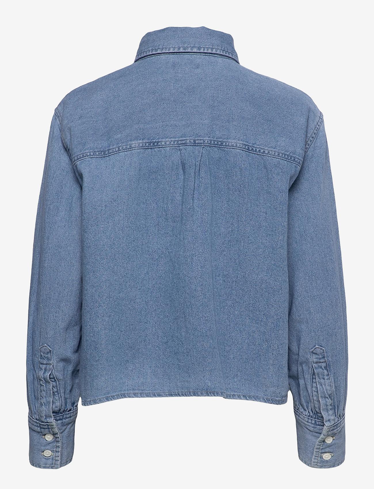 LEVI´S Women - ZOEY PLEAT UTILITY SHIRT STAY - long-sleeved shirts - med indigo - flat finish - 1