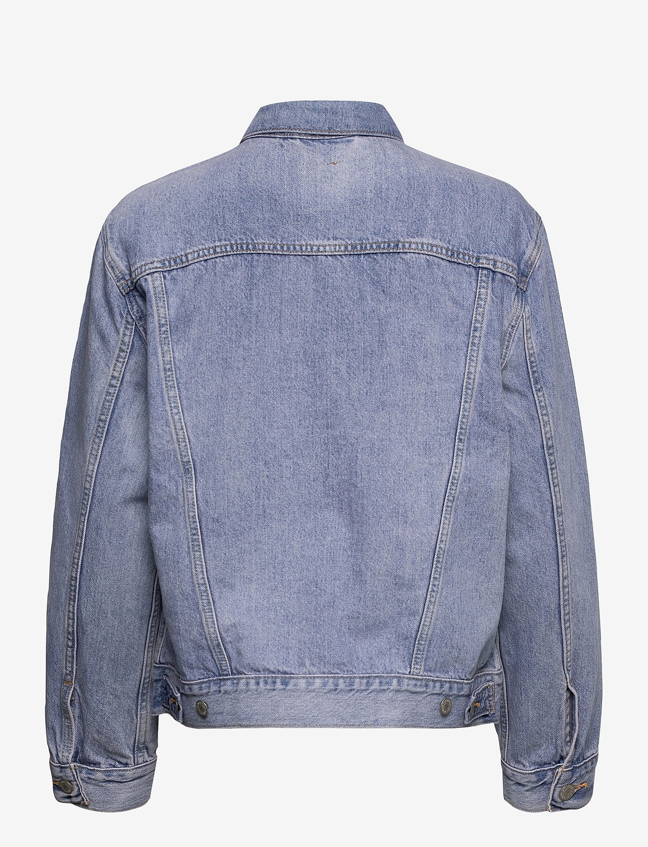 LEVI´S Women - EXBOYFRIEND TRUCKER ACROSS THE - denimjakker - light indigo - worn in - 1