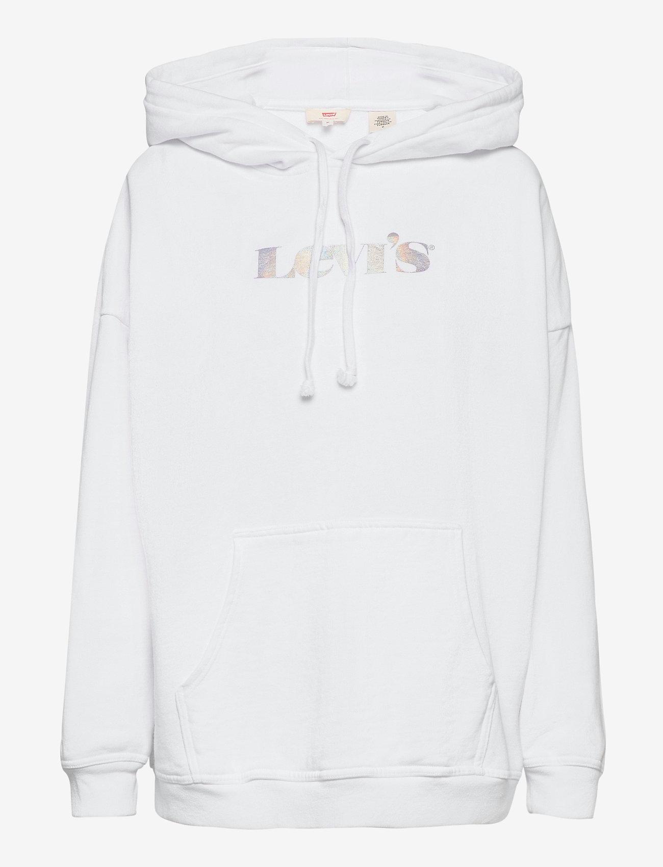 LEVI´S Women - GRAPHIC RIDER HOODIE HOODIE RI - sweatshirts & hættetrøjer - neutrals - 0