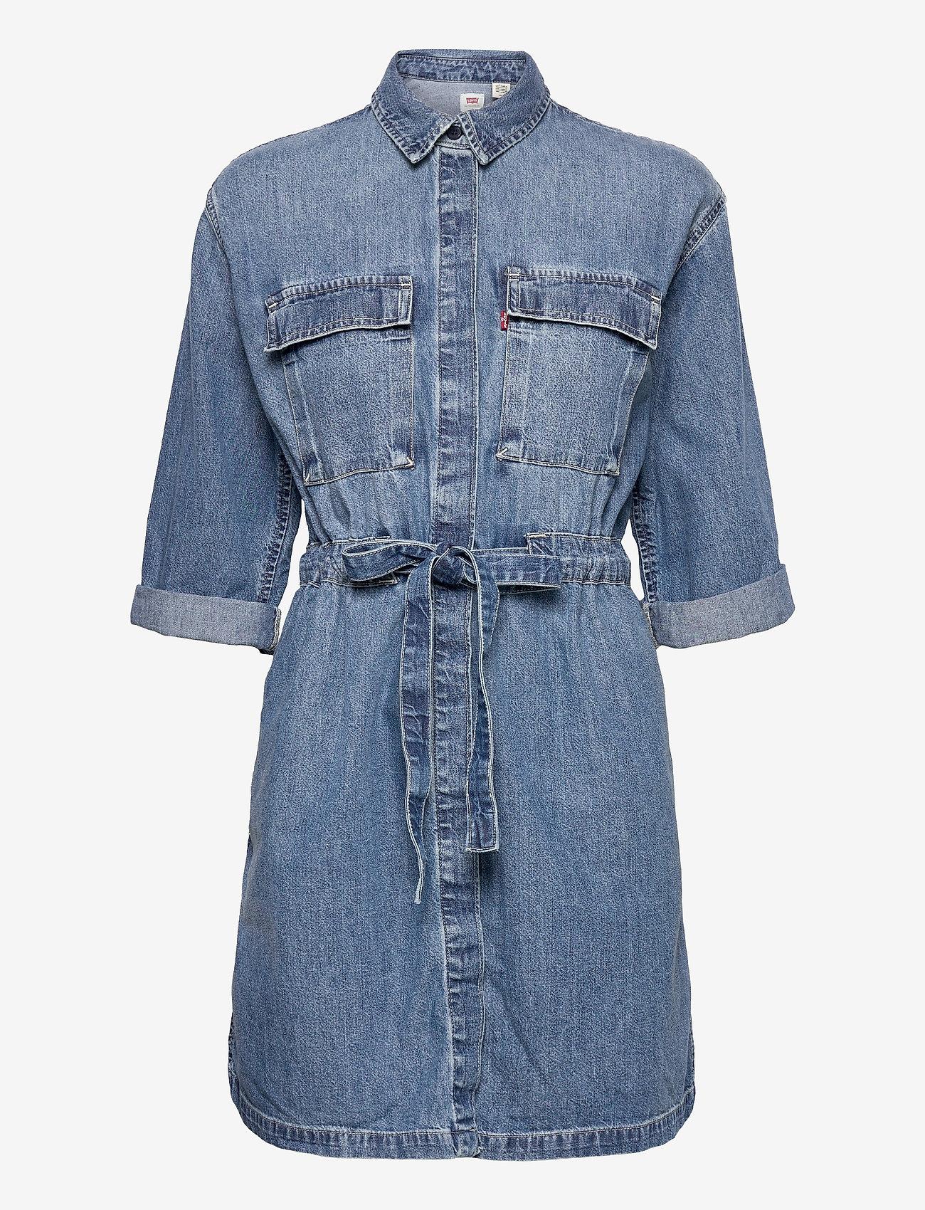 LEVI´S Women - AINSLEY UTILITY DENIM D FREAKY - skjortekjoler - med indigo - flat finish - 0