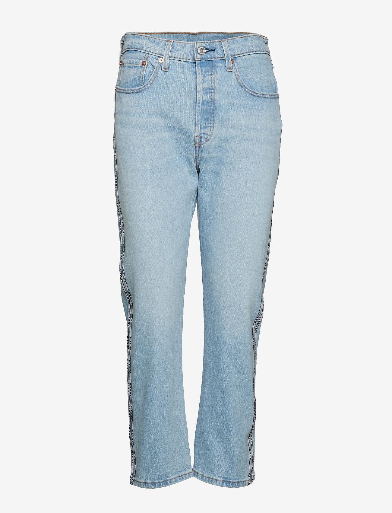LEVI´S Women - 501 CROP DIBS W/ TAPE - straight jeans - light indigo - worn in - 0