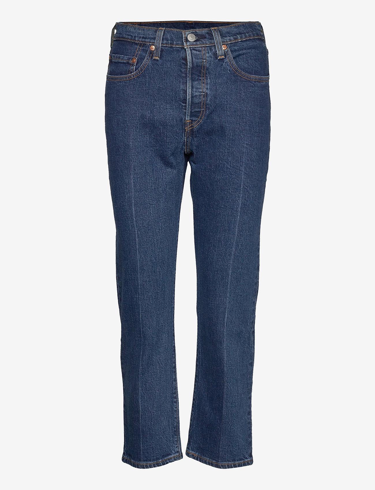 LEVI´S Women - 501 CROP CHARLESTON PRESSED - straight jeans - dark indigo - flat finish - 0