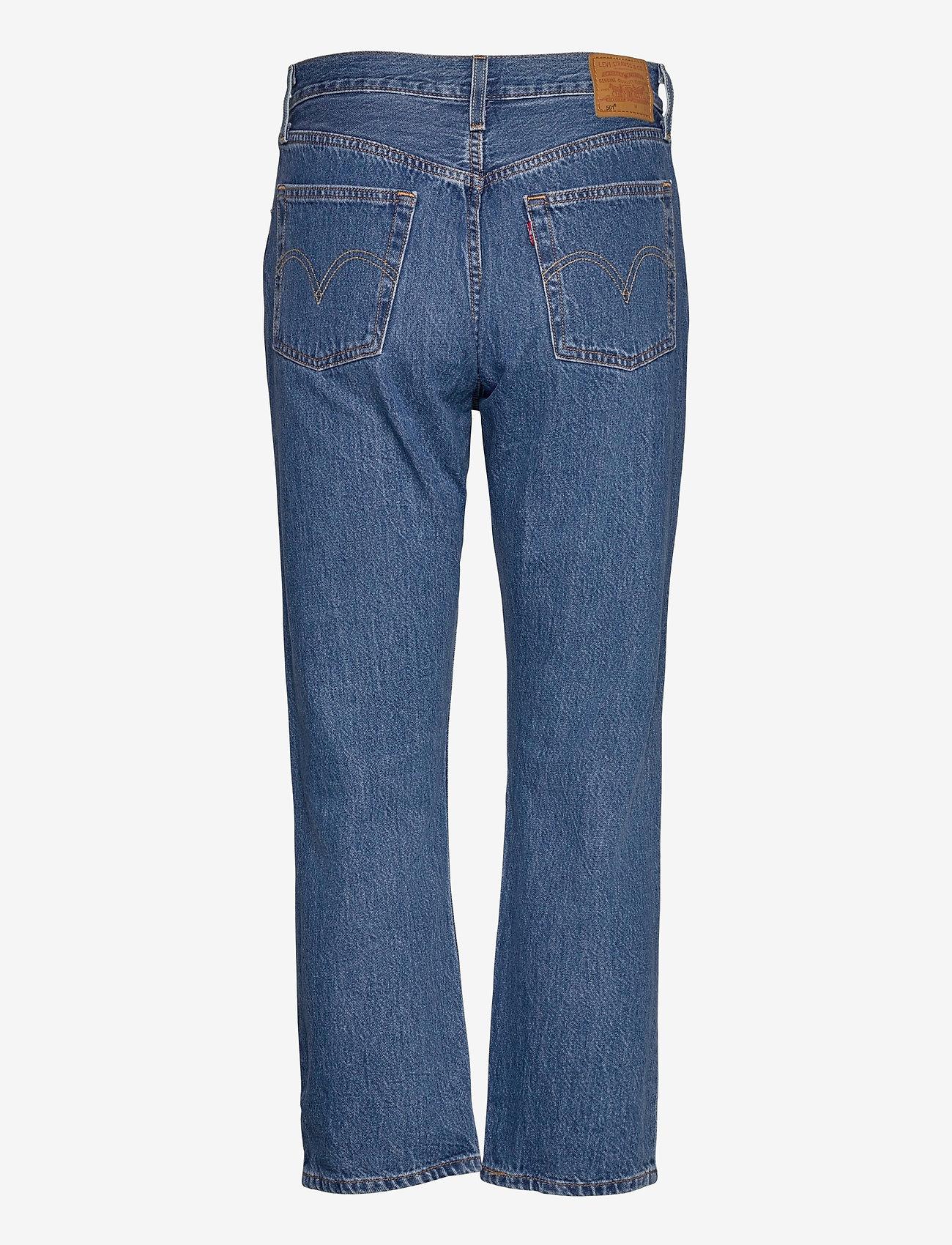 LEVI´S Women - 501 CROP SANSOME BREEZE STONE - mom jeans - med indigo - worn in - 1