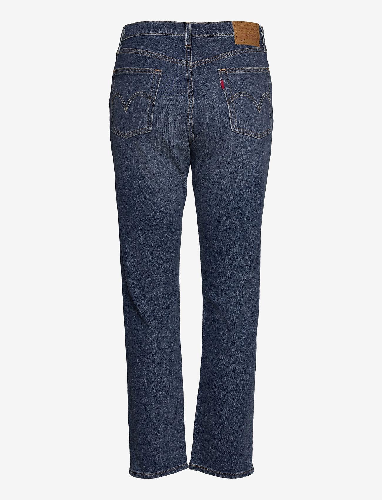 LEVI´S Women - 501 CROP CHARLESTON OUTLASTED - straight regular - dark indigo - worn in - 1