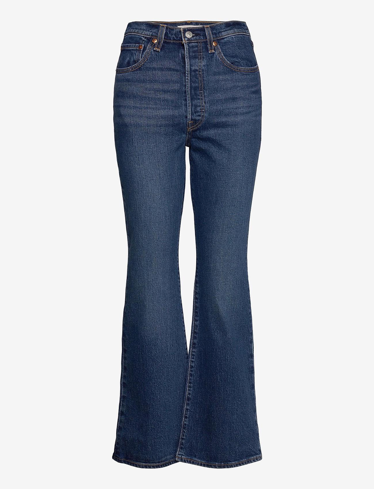 LEVI´S Women - RIBCAGE BOOT TURN UP - schlaghosen - med indigo - worn in - 0
