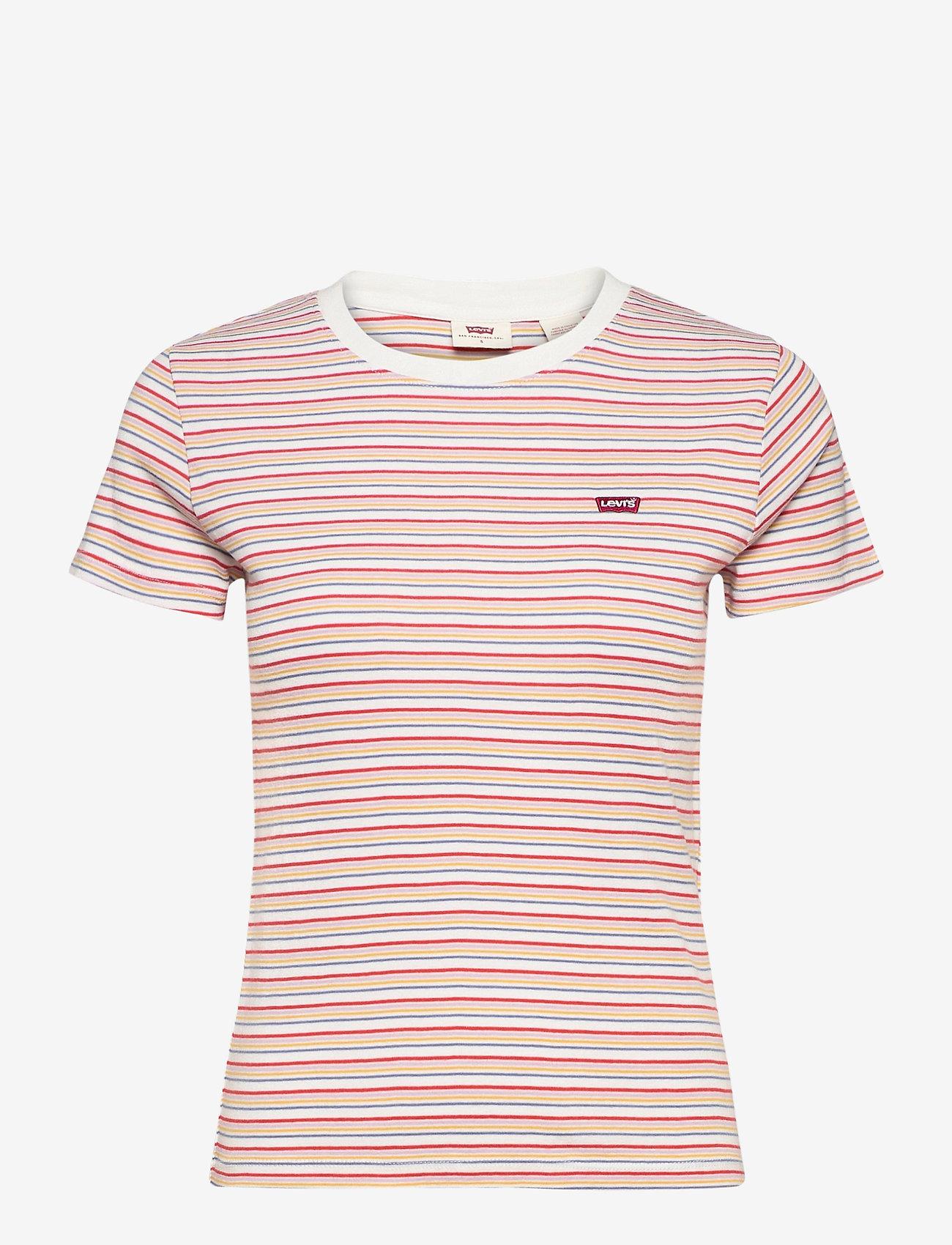 LEVI´S Women - SS RIB BABY TEE PEARL POPPY RE - t-shirts - multi-color - 0