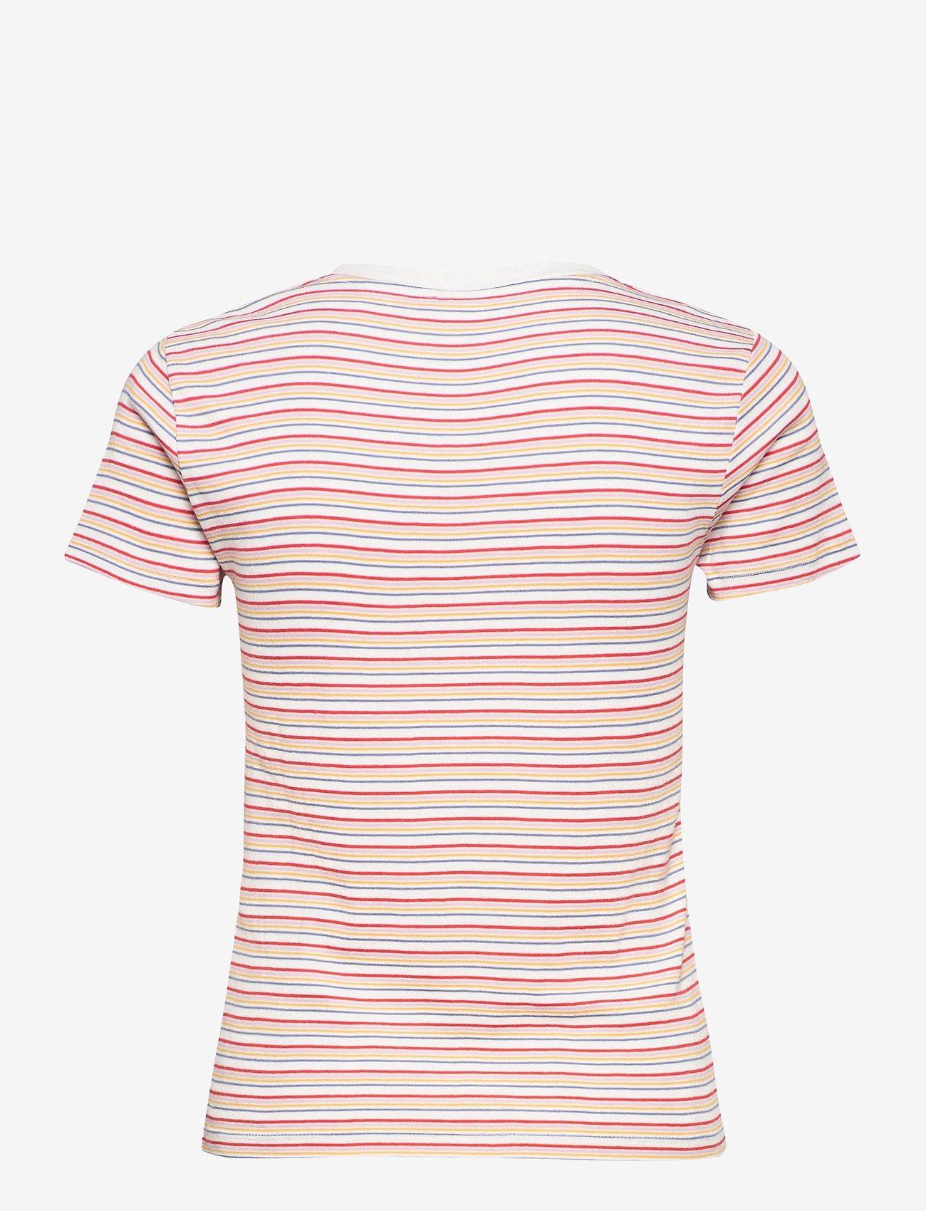 LEVI´S Women - SS RIB BABY TEE PEARL POPPY RE - t-shirts - multi-color - 1