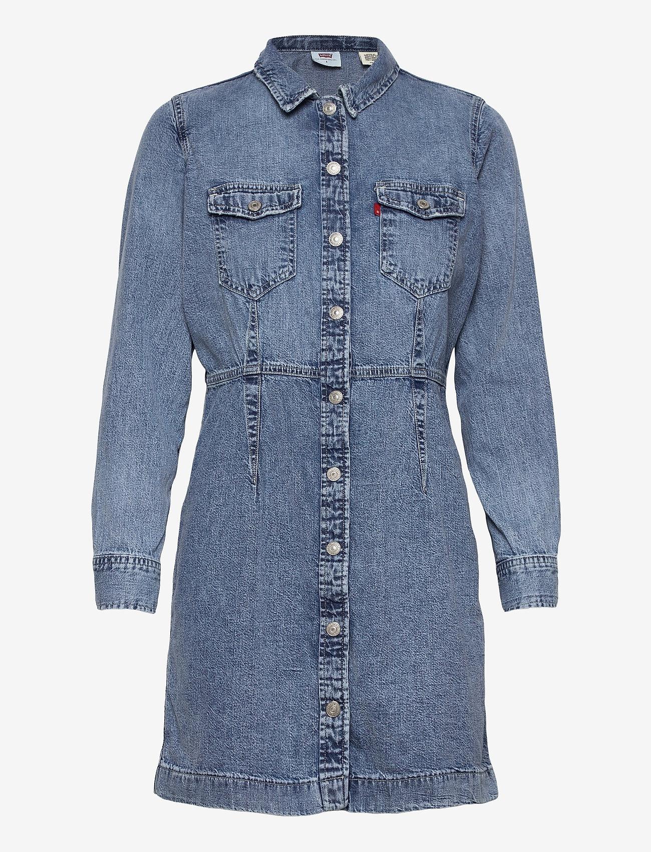 LEVI´S Women - ELLIE DENIM DRESS PASSING ME B - skjortekjoler - med indigo - worn in - 0