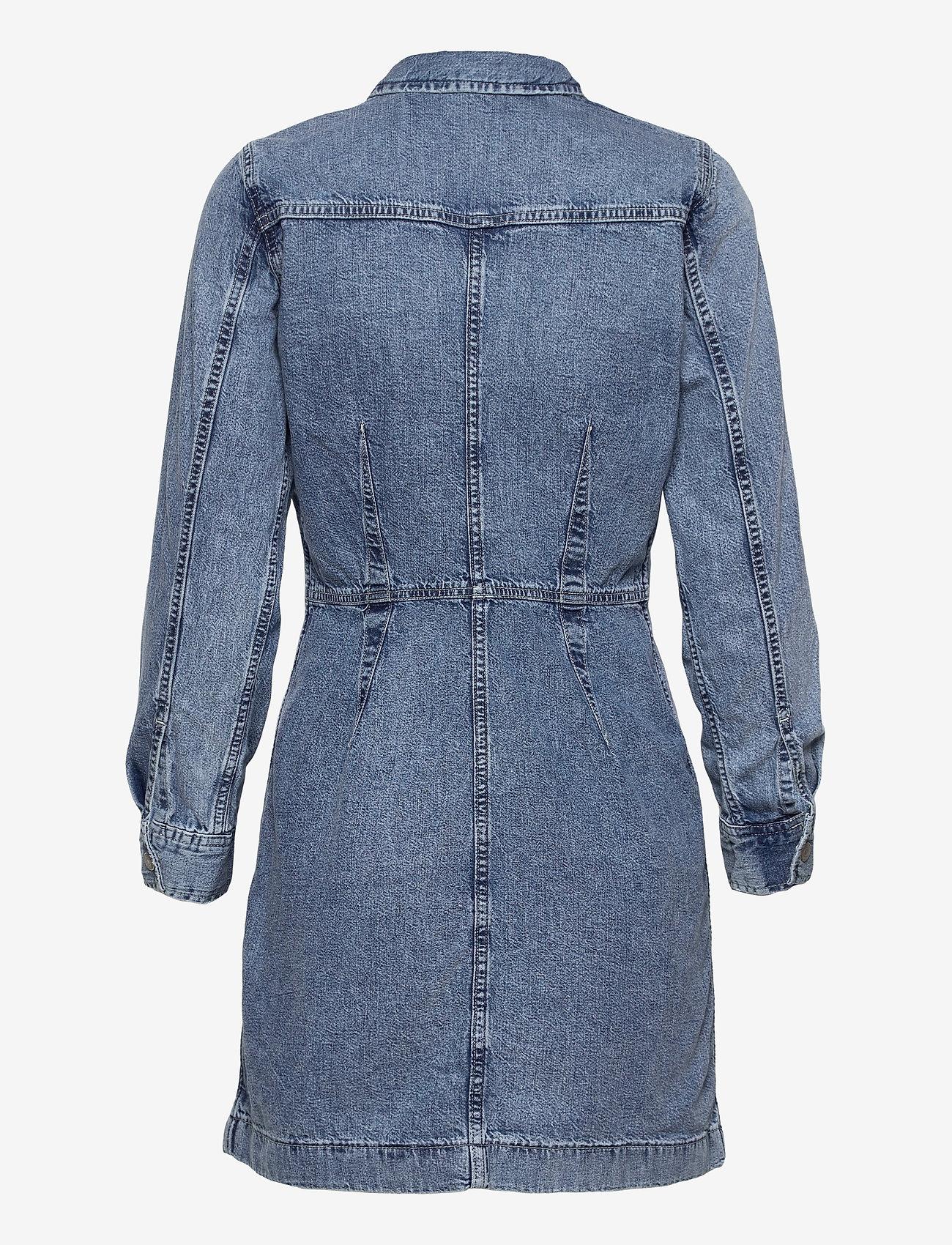 LEVI´S Women - ELLIE DENIM DRESS PASSING ME B - skjortekjoler - med indigo - worn in - 1