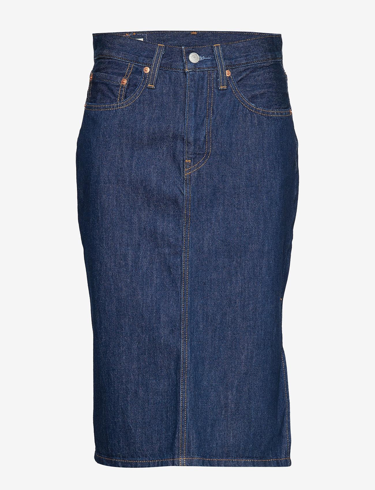 LEVI´S Women - SLIDE SLIT SKIRT JUNIPER RIDGE - jupes en jeans - dark indigo - flat finish