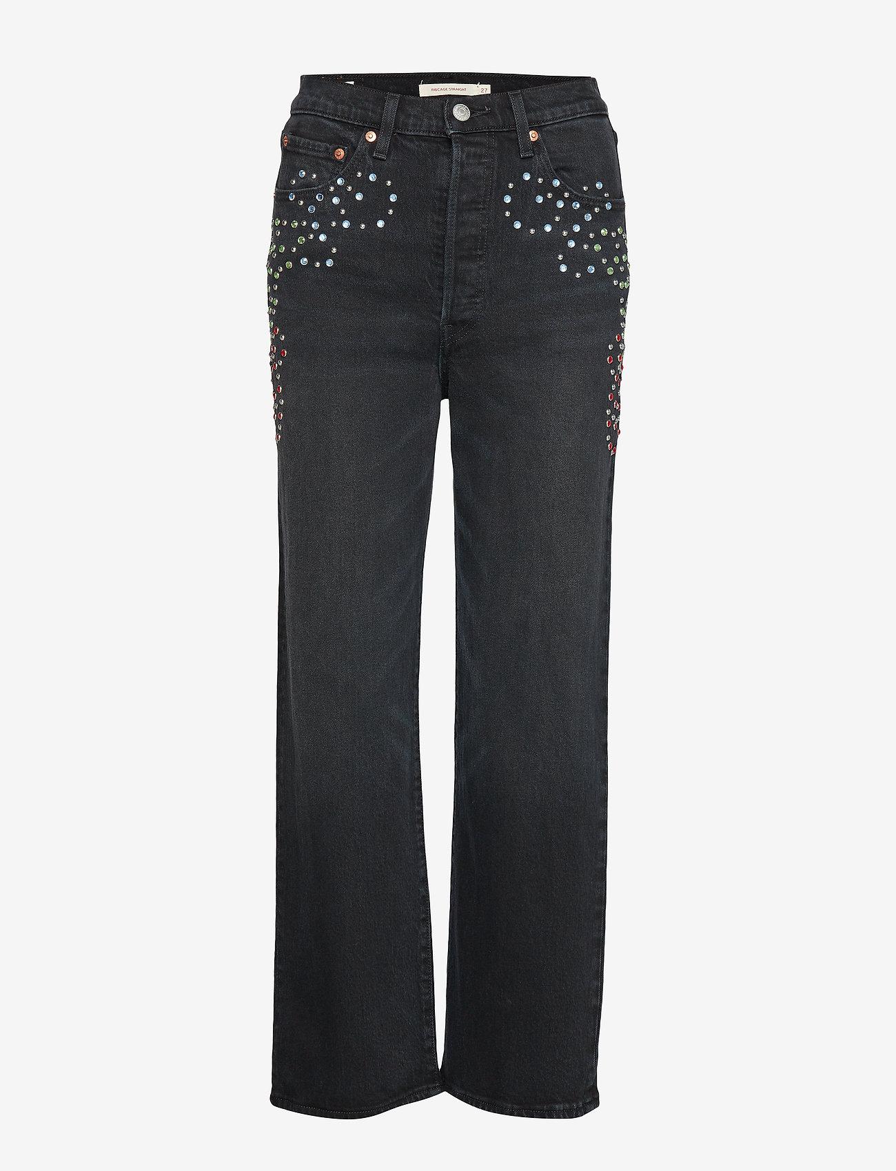 LEVI´S Women - RIBCAGE STRAIGHT ANKLE BORDER - straight jeans - blacks