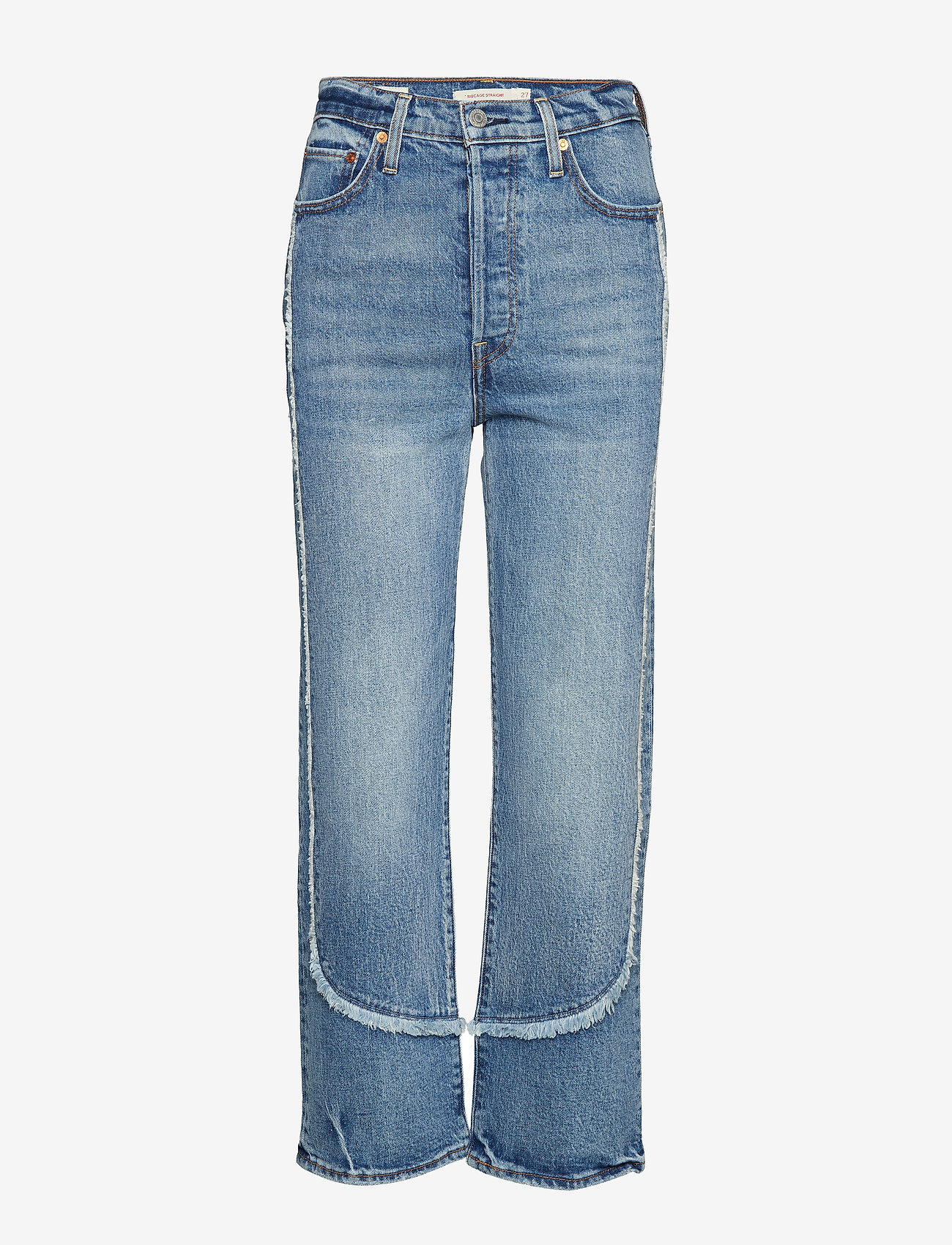 LEVI´S Women - RIBCAGE STRAIGHT ANKLE ON THE - straight jeans - med indigo - worn in