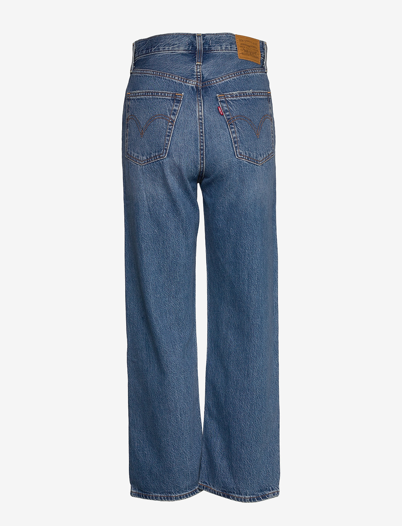 LEVI´S Women - RIBCAGE STRAIGHT ANKLE AT THE - brede jeans - med indigo - worn in - 1
