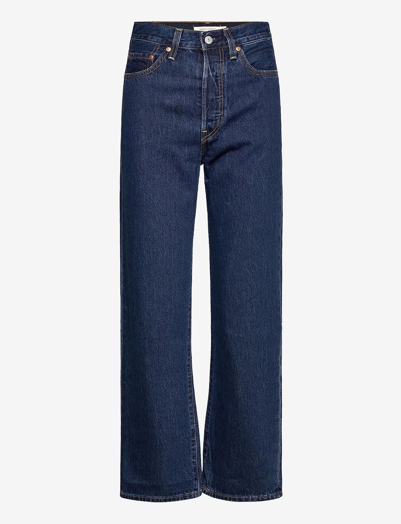 LEVI´S Women - RIBCAGE STRAIGHT ANKLE NOE DAR - brede jeans - dark indigo - flat finish - 0