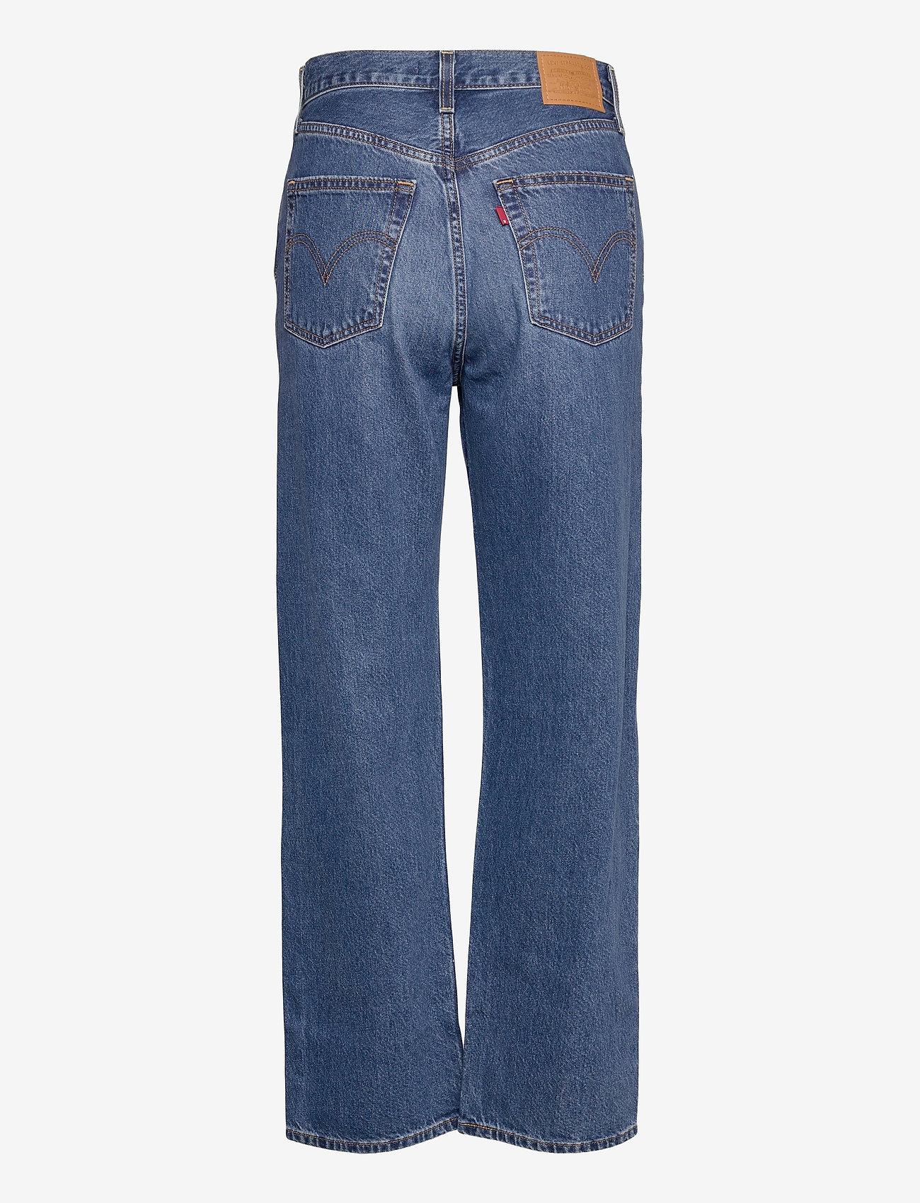 LEVI´S Women - RIBCAGE STRAIGHT ANKLE NOE FOG - brede jeans - dark indigo - worn in - 1