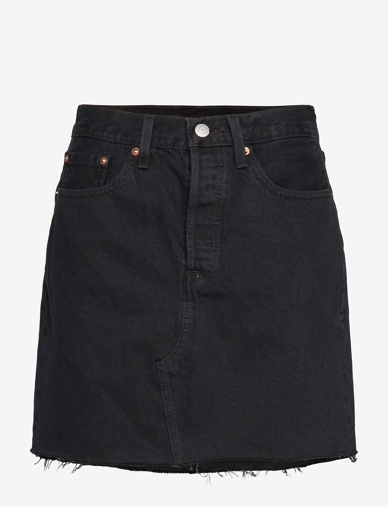 LEVI´S Women - HR DECON ICONIC BF SKIRT LEFT - denimskjørt - blacks