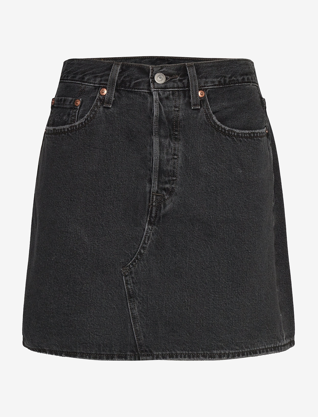 LEVI´S Women - HR DECON ICNIC BFLY SKRT REGUL - denimnederdele - blacks - 0