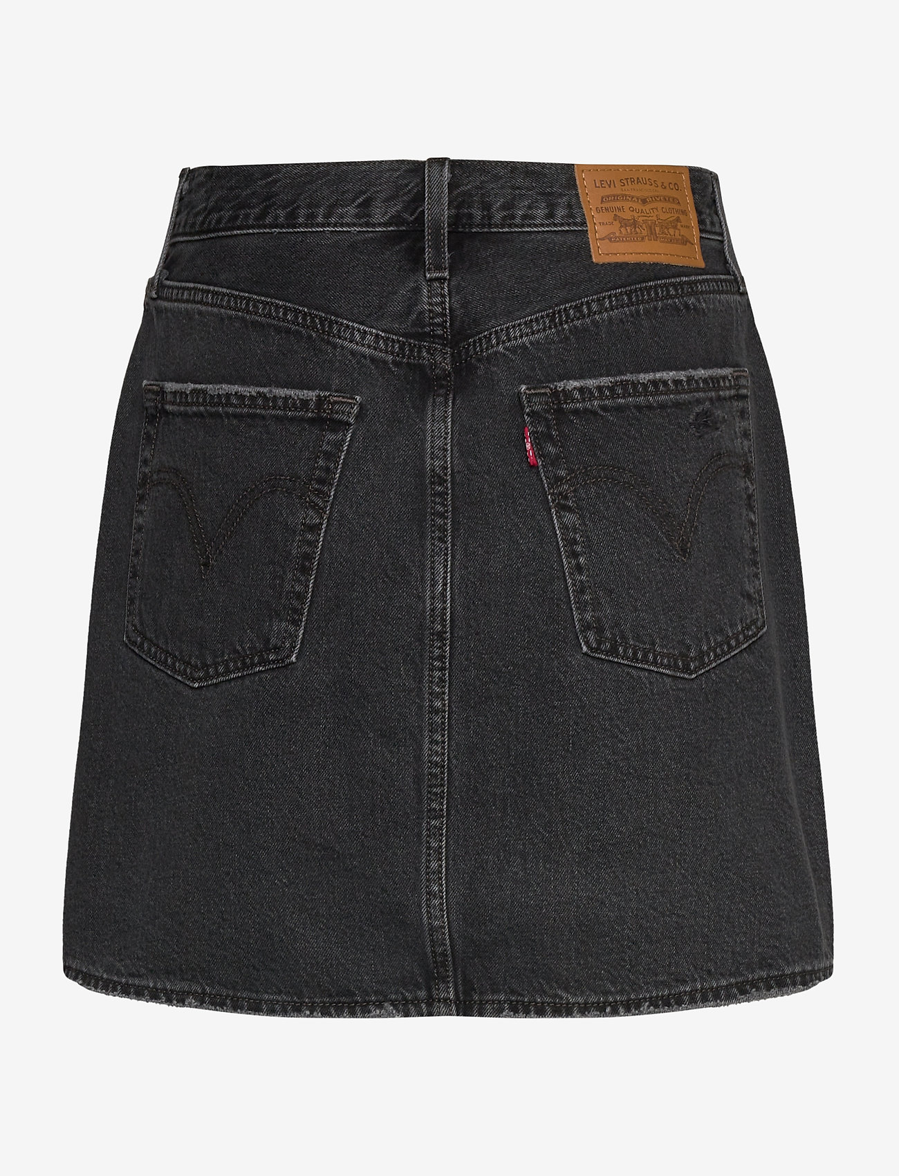 LEVI´S Women - HR DECON ICNIC BFLY SKRT REGUL - denimnederdele - blacks - 1