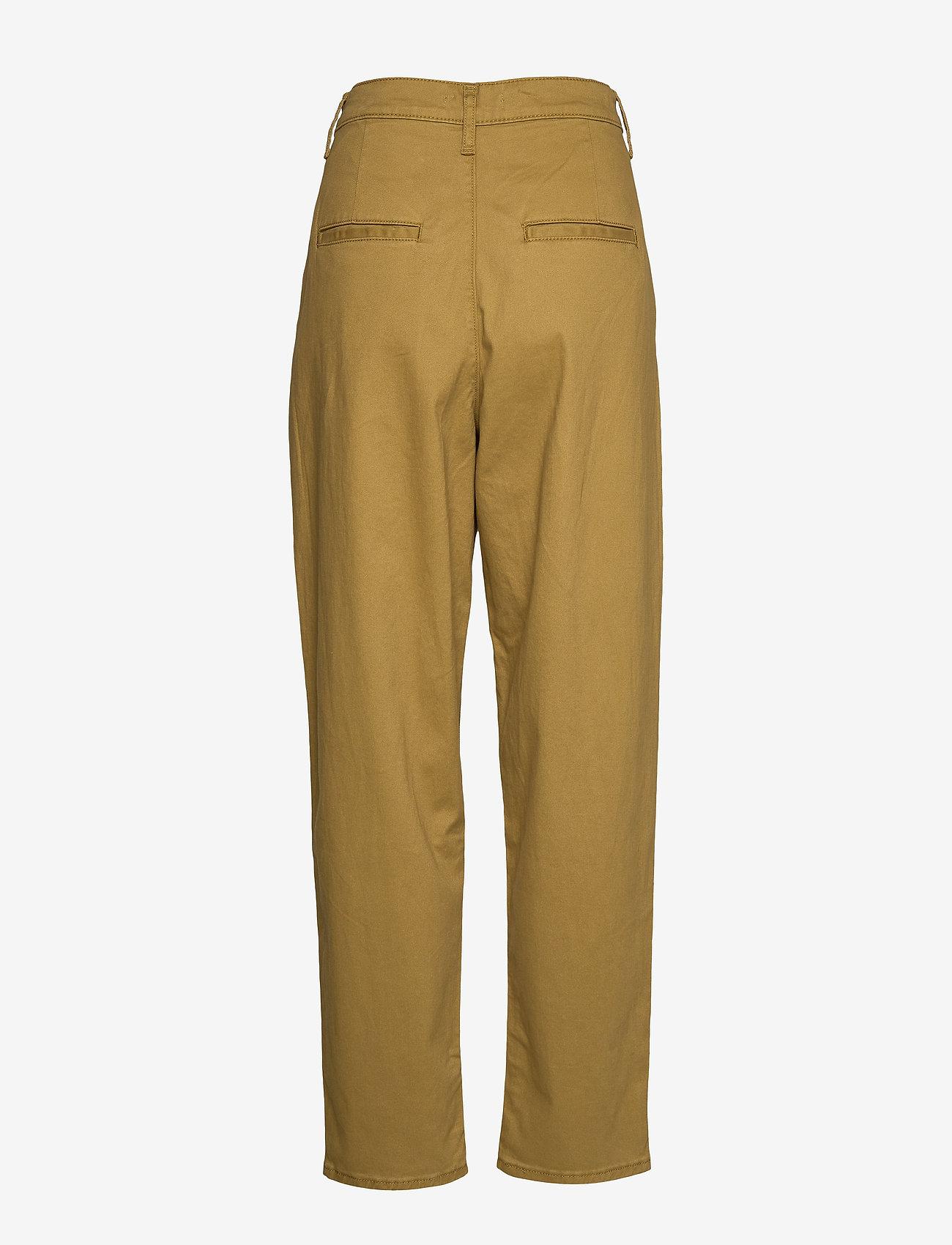 LEVI´S Women - PLEATED BALLOON DULL GOLD FINE - bukser med lige ben - neutrals - 1