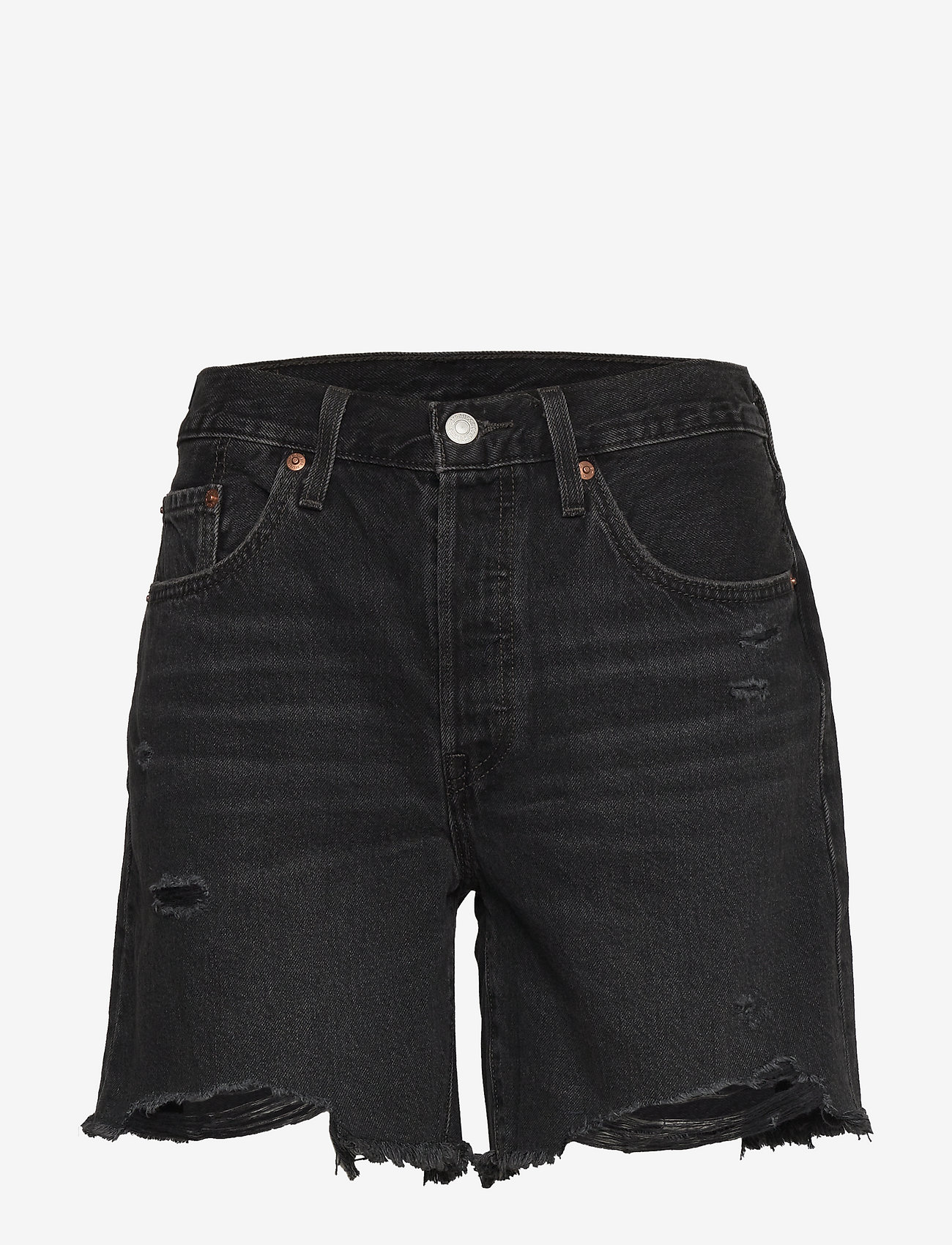 LEVI´S Women - 501 MID THIGH SHORT BEES KNEES - denimshorts - blacks - 0