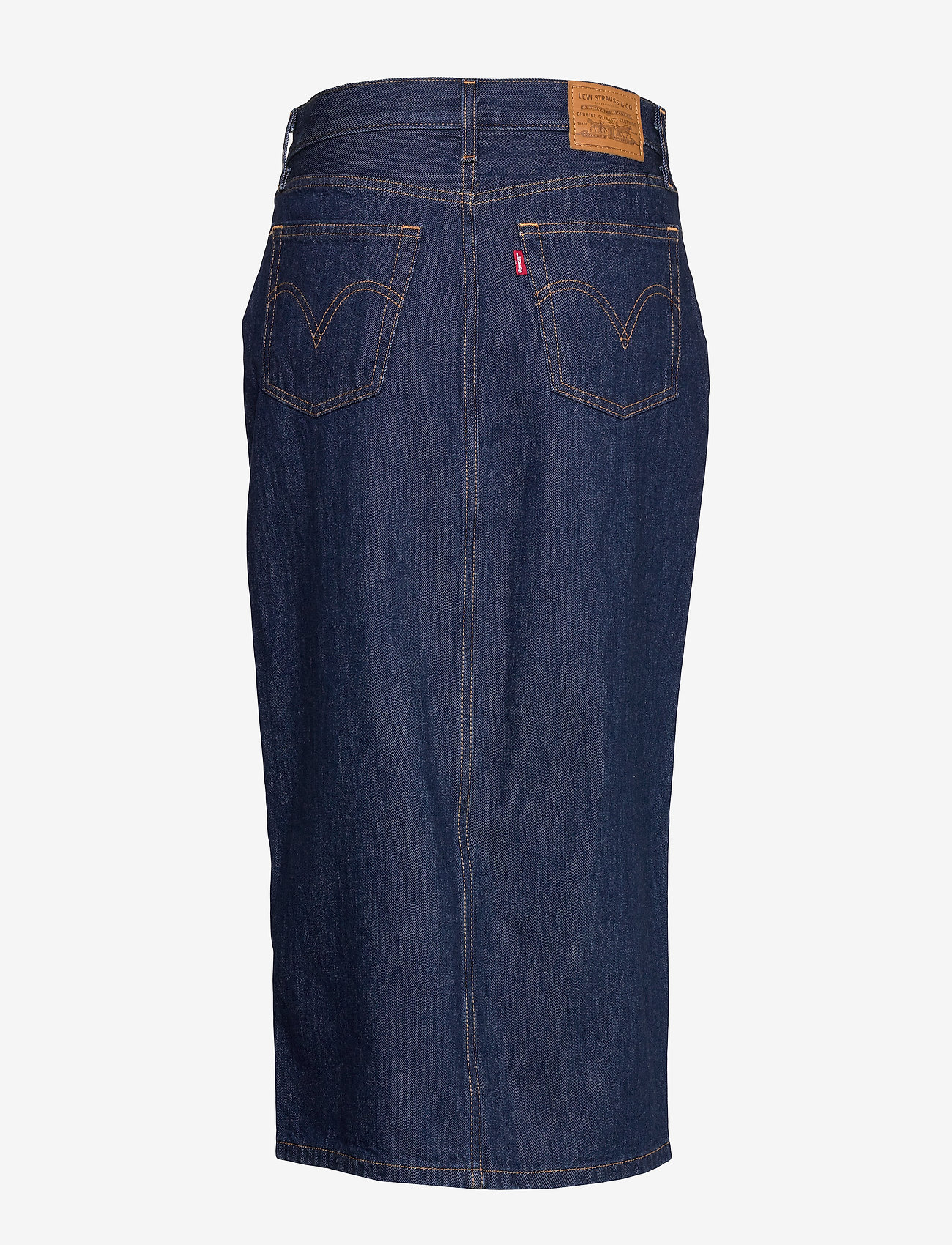 LEVI´S Women - BUTTON FRONT MIDI SKIRT JUNIPE - denimnederdele - dark indigo - flat finish - 1