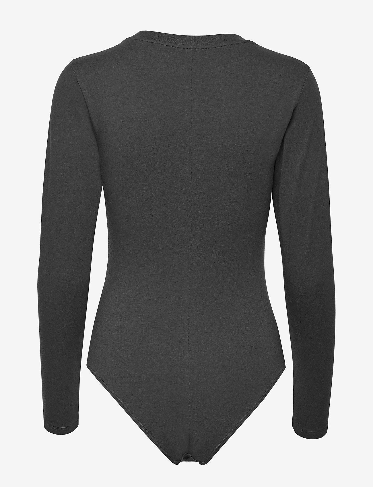 LEVI´S Women GRAPHIC LS BODYSUIT 90S SERIF - T-shirty i zopy BLACKS - Kobiety Odzież.
