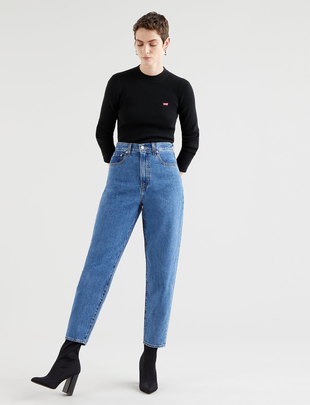 LEVI´S Women - HIGH LOOSE TAPER HOLD MY PURSE - boyfriend jeans - med indigo - flat finish - 0
