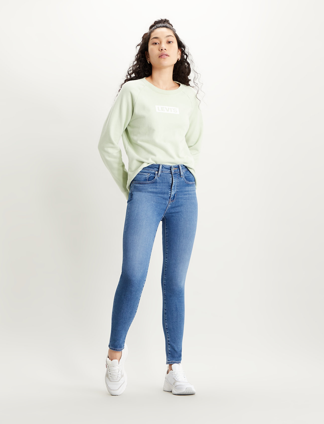 LEVI´S Women - 721 HIGH RISE SKINNY RIO HUSTL - skinny jeans - light indigo - worn in - 0