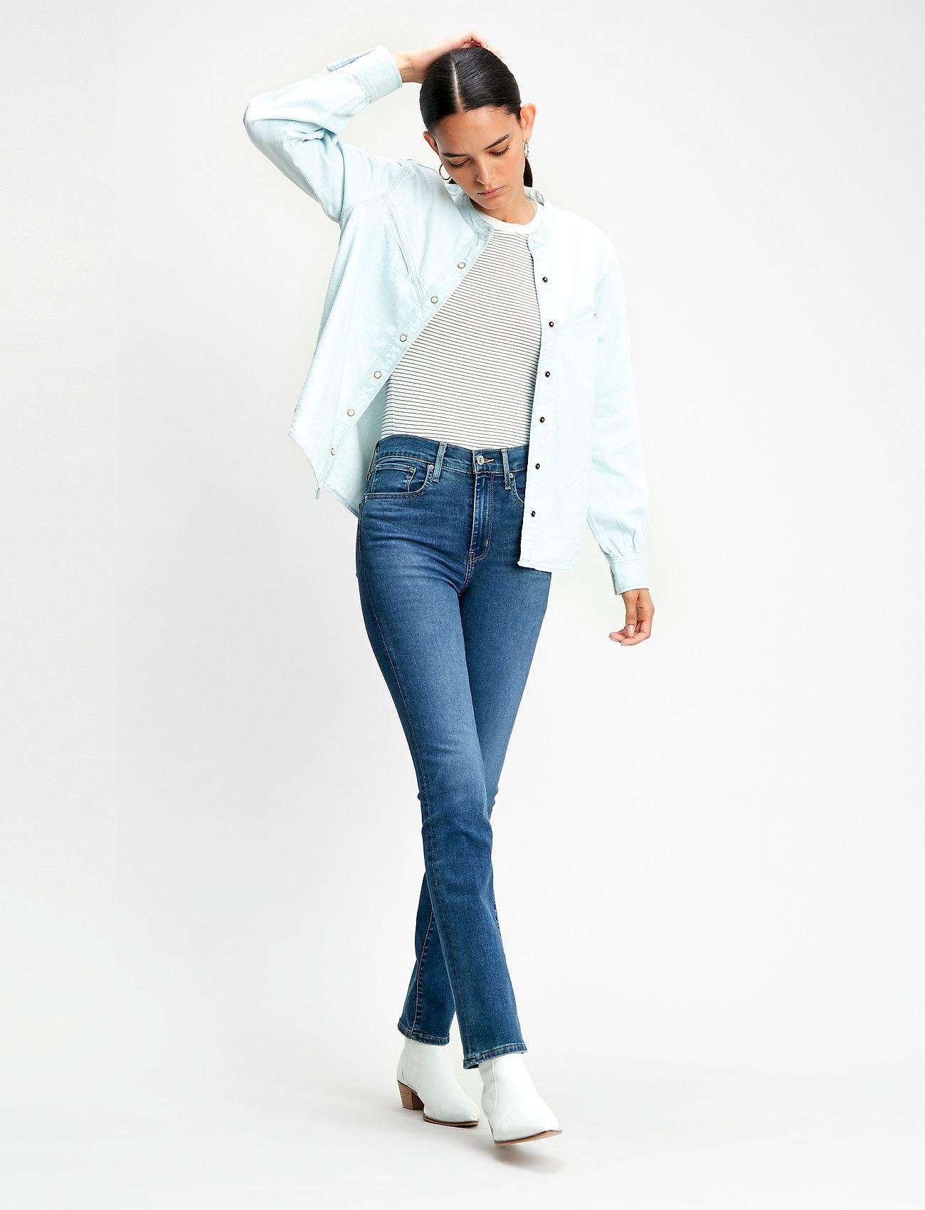LEVI´S Women - 724 HIGH RISE STRAIGHT BOGOTA - straight jeans - med indigo - flat finish - 0