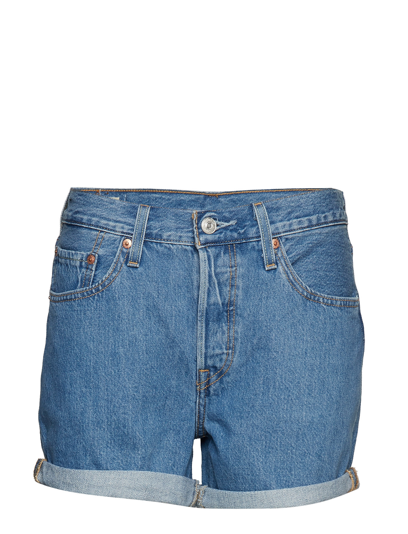 LEVI´S Women 501 SHORT LONG MONTGOMERY STON - LIGHT INDIGO - FLAT FINIS