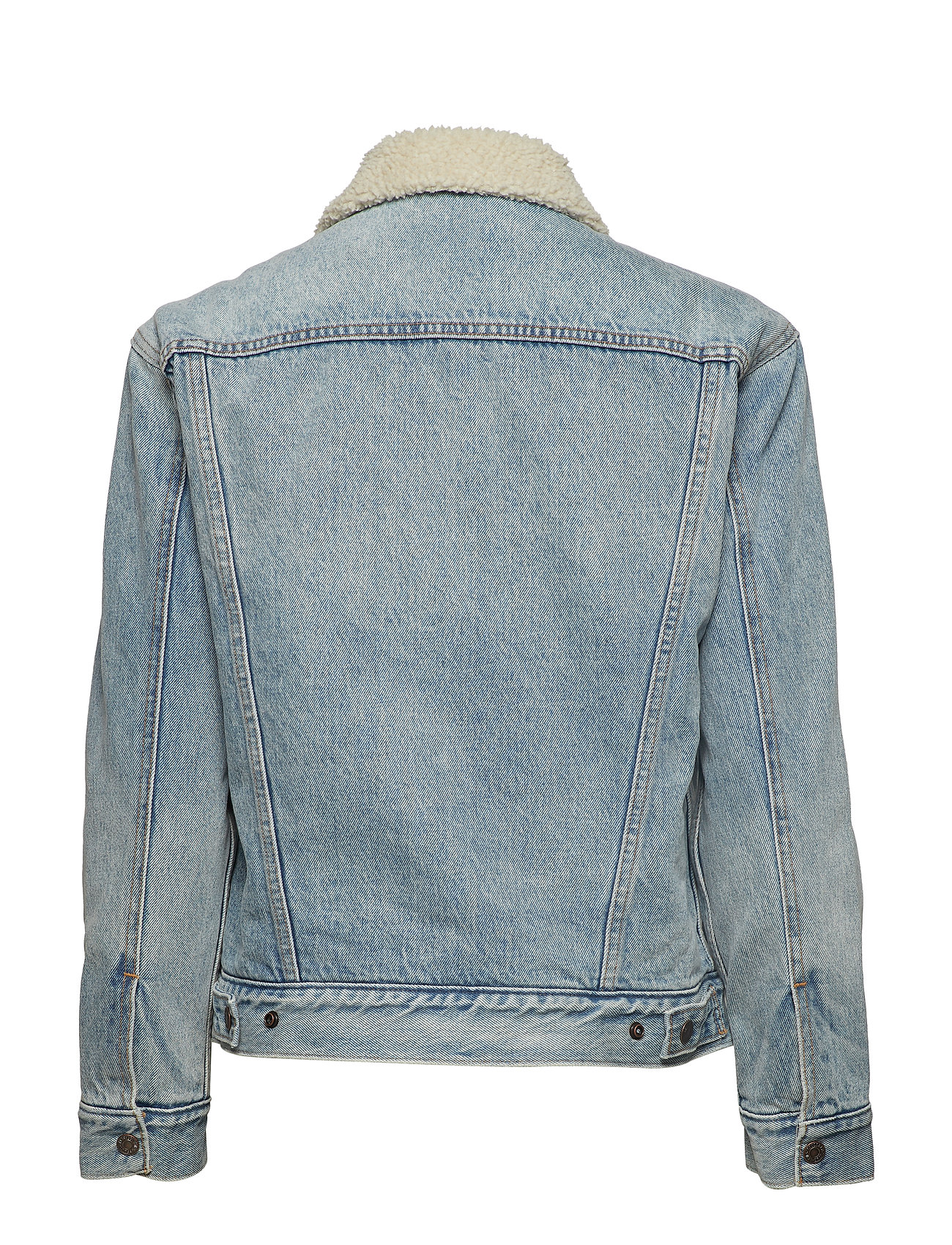 LEVI´S Women - EXBF SHERPA TRUCKER STRANGERWA - denimjakker - light indigo - worn in - 1