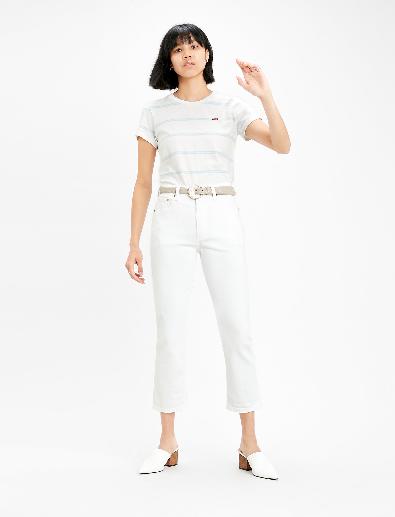 LEVI´S Women - 501 CROP IN THE CLOUDS - straight jeans - neutrals - 0