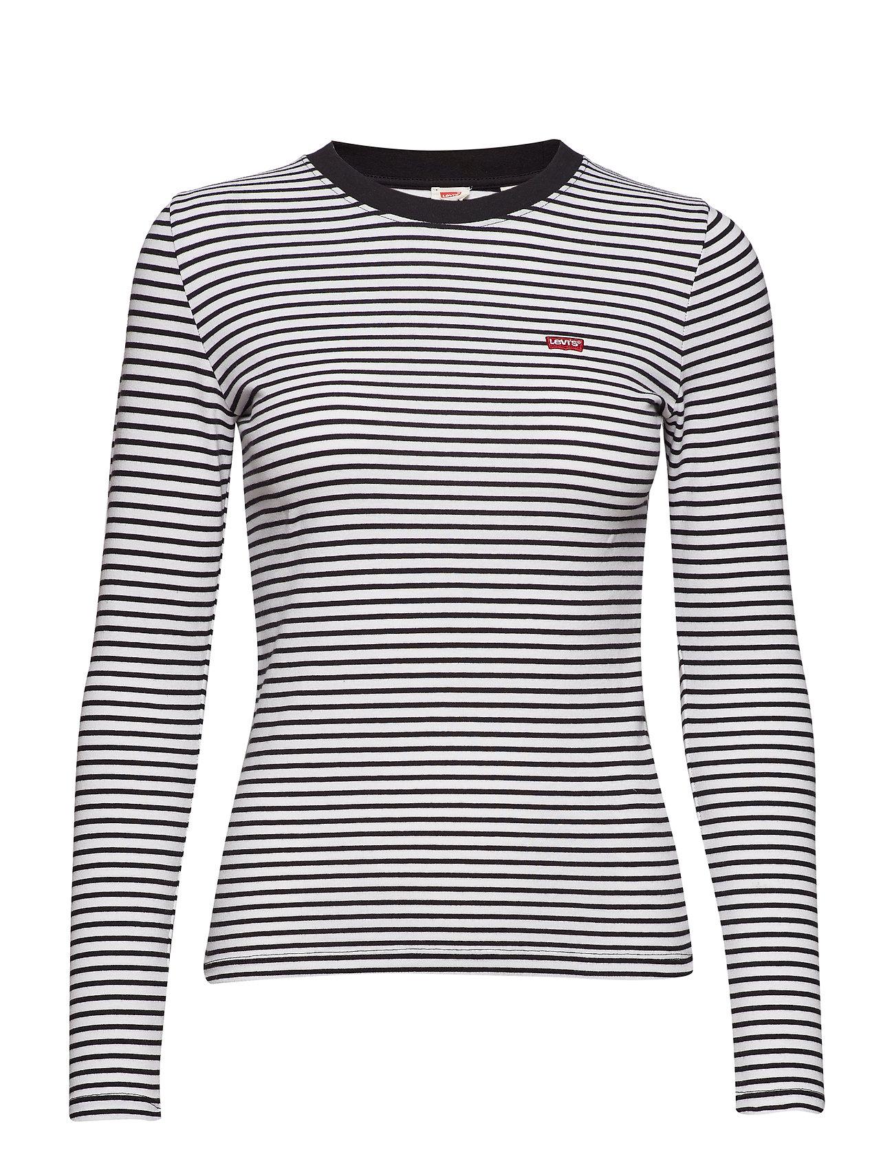 Ls Baby Tee Aeriel White+ Mi Langærmet T shirt Blå LEVI´S WOMEN