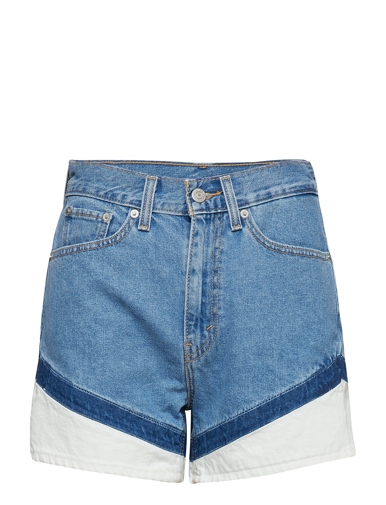 LEVI´S Women MOM A LINE SHORT ON YOUR MARKS - LIGHT INDIGO - WORN IN