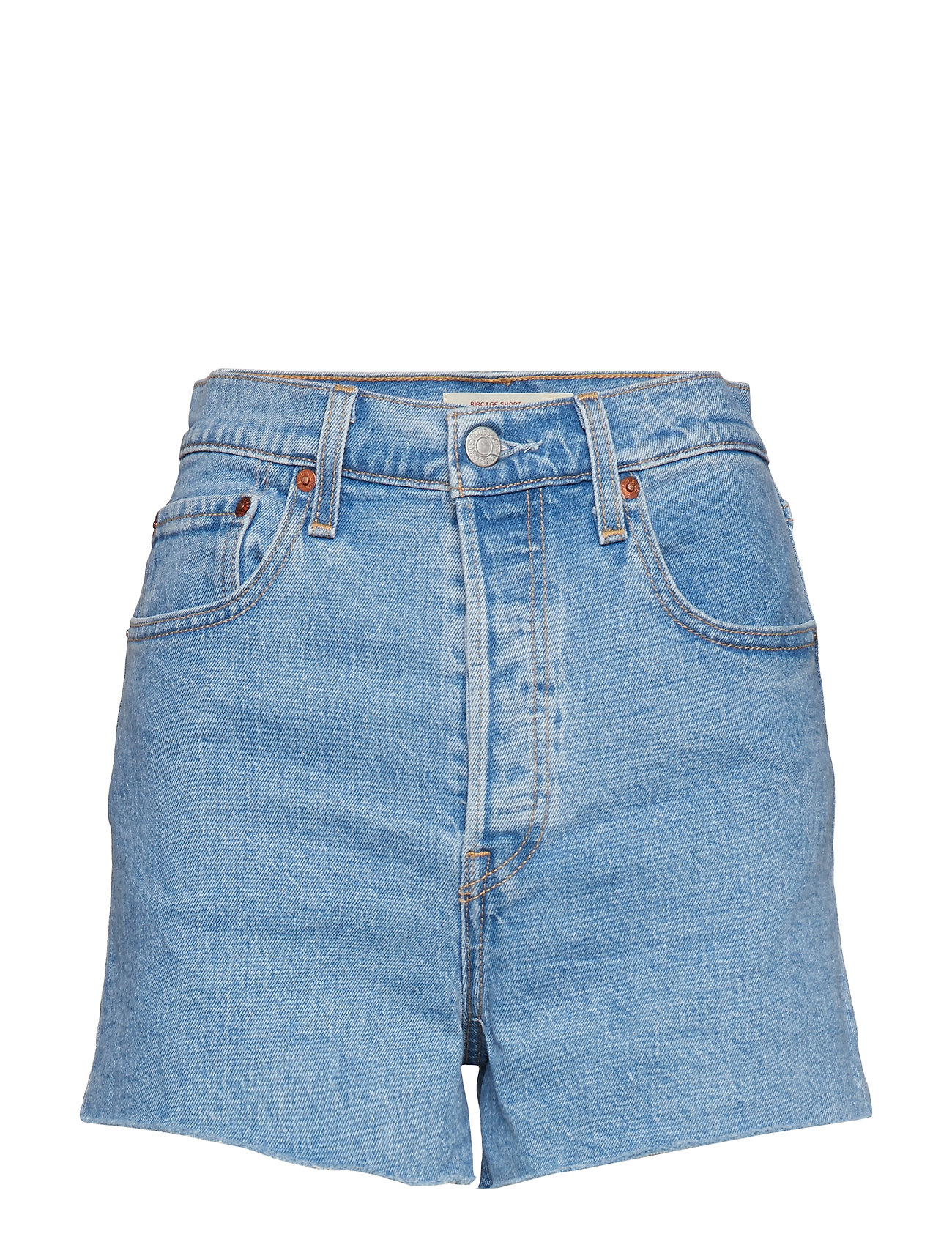 LEVI´S Women RIBCAGE SHORT TANGO STONEWASH - LIGHT INDIGO - FLAT FINIS
