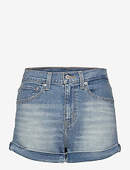 LEVI´S Women - MOM A LINE SHORT 2 BANDIT BLUE - denimshorts - med indigo - worn in - 0