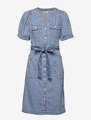 LEVI´S Women - BRYN DRESS LOOSEY GOOSEY (2) - jeansowe sukienki - light indigo - worn in - 0