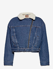 LEVI´S Women - COCOON BOMBER TRUCKER TAKE FLI - denimjakker - med indigo - worn in - 2
