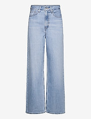 LEVI´S Women - HIGH LOOSE FULL CIRCLE - brede jeans - med indigo - worn in - 0