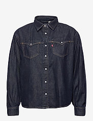 LEVI´S Women - PAYTON LS WESTERN TONGUE TWIST - denimskjorter - dark indigo - flat finish - 0