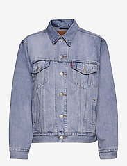 LEVI´S Women - EXBOYFRIEND TRUCKER ACROSS THE - denimjakker - light indigo - worn in - 0