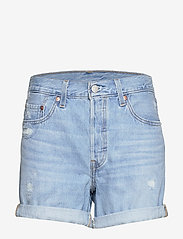 LEVI´S Women - 501 SHORT LONG MONTGOMERY MEND - denimshorts - light indigo - worn in - 0