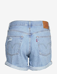 LEVI´S Women - 501 SHORT LONG MONTGOMERY MEND - denimshorts - light indigo - worn in - 1
