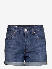 LEVI´S Women - 501 SHORT LONG SANSOME DRIFTER - denimshorts - med indigo - worn in - 0
