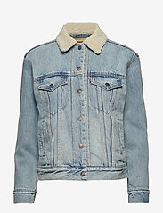 LEVI´S Women - EXBF SHERPA TRUCKER STRANGERWA - denimjakker - light indigo - worn in - 0