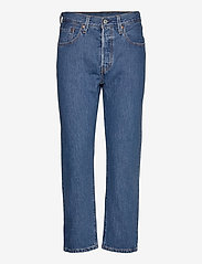 LEVI´S Women - 501 CROP SANSOME BREEZE STONE - mom jeans - med indigo - worn in - 0