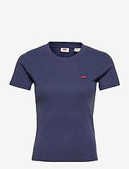 LEVI´S Women - SS RIB BABY TEE BLUE INDIGO - t-shirts - blues - 0