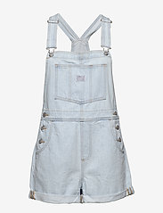 LEVI´S Women - VINTAGE SHORTALL CAUGHT NAPPIN - buksedragter - light indigo - worn in - 0