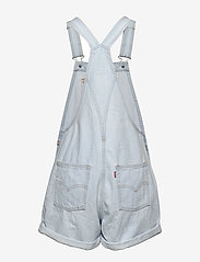 LEVI´S Women - VINTAGE SHORTALL CAUGHT NAPPIN - buksedragter - light indigo - worn in - 1
