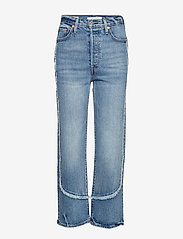 LEVI´S Women - RIBCAGE STRAIGHT ANKLE ON THE - straight jeans - med indigo - worn in - 0